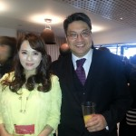 Dr Alan Ma and Yi Neng Jing (Taiwanese celebrity) at the Conservative Friends of the Chinese dinner - 21 May 2013